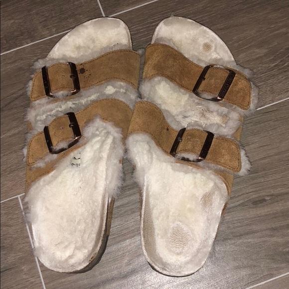 2a7fdba3fac Birkenstock Shoes - Furry Birkenstocks Size 39